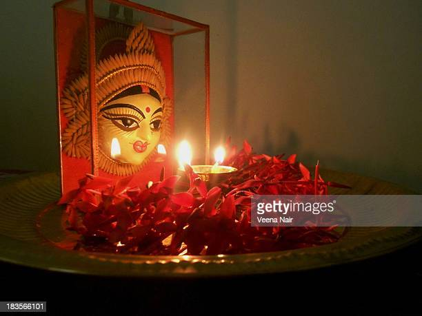 happy navratri/dussehra/durga pooja - durga stock photos and pictures