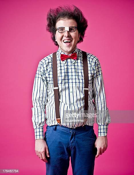 feliz nerd - hombre feo fotografías e imágenes de stock