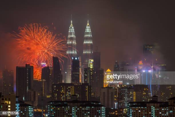 happy new year 2017 from kuala lumpur - shaifulzamri stock pictures, royalty-free photos & images