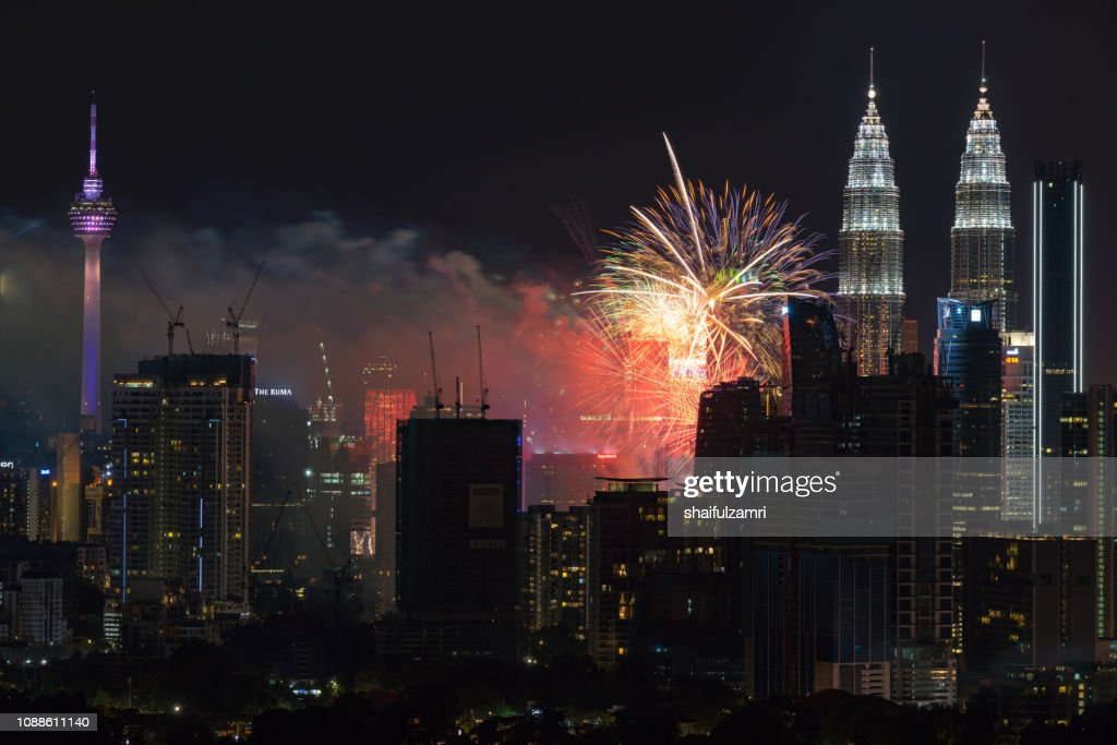 Happy New Year 2019 from Kuala Lumpur, Malaysia. : Stock Photo