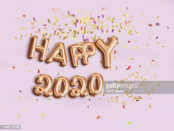 happy new year 2020 balloon - new year's eve stock pictures, royalty-free photos & images