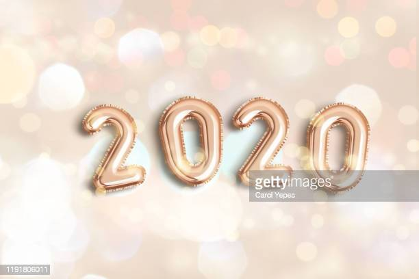 happy new year 2020 balloon - 2020 stock pictures, royalty-free photos & images