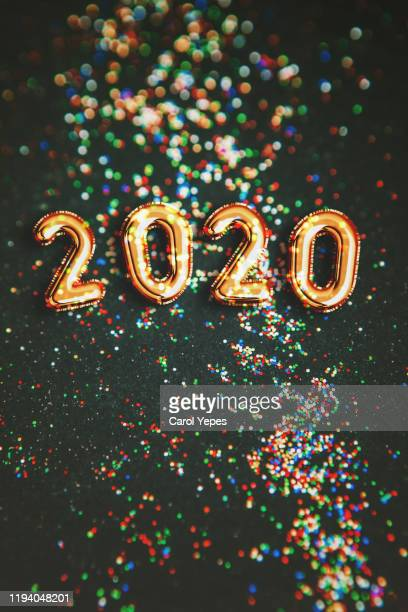 happy new year 2020 balloon - new year 2020 stock photos and pictures