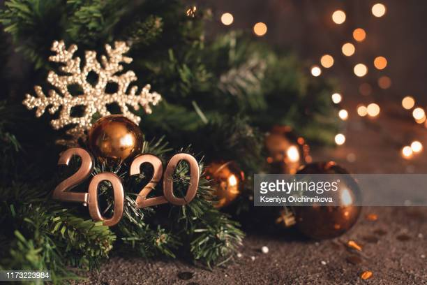 happy new year 2020 word made from sparkler light firework - 2020 calendar stock photos and pictures