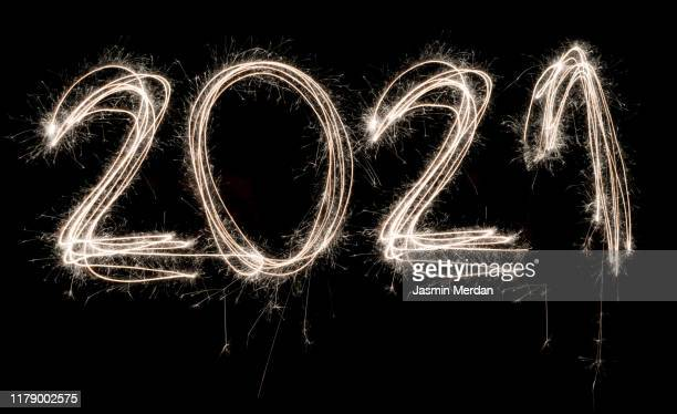 happy new year 2021 sparkle - fireworks stock pictures, royalty-free photos & images