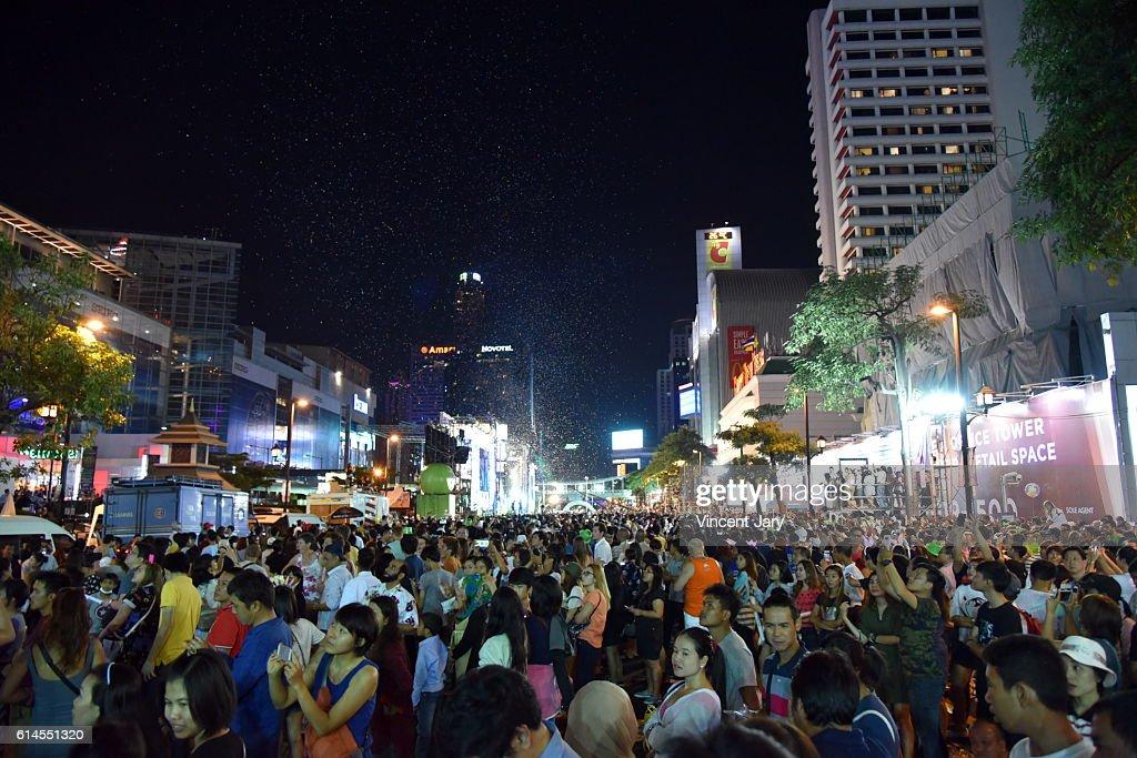 happy new year at central world bangkok thailand asia stock photo