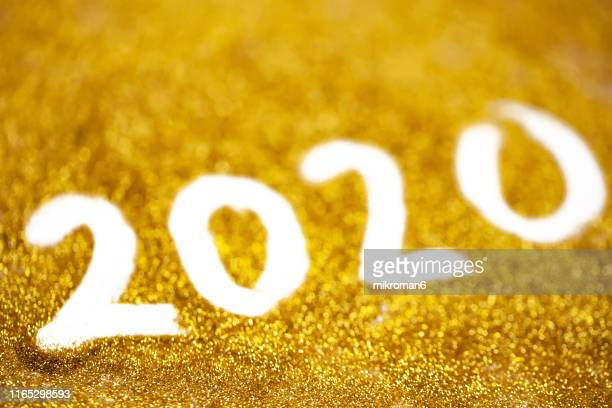 2020 happy new year background golden glitter - 2020年 ストックフォトと画像