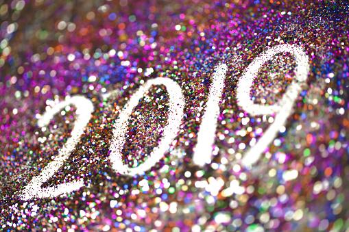 2019 Happy New Year background Multicoloured  glitter - gettyimageskorea