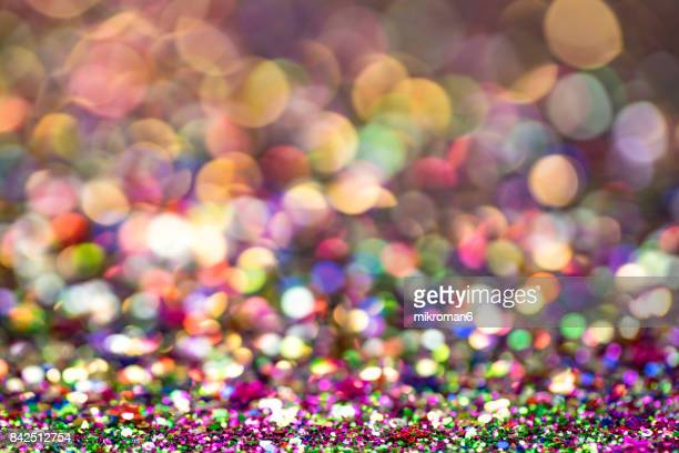 2018 Happy New Year background Multicoloured  glitter