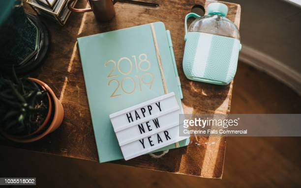 happy new year message - 2019 foto e immagini stock
