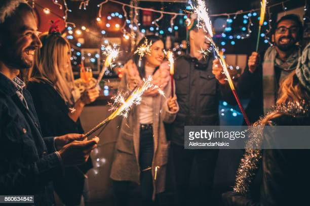 happy new year!!! - christmas party stock photos and pictures