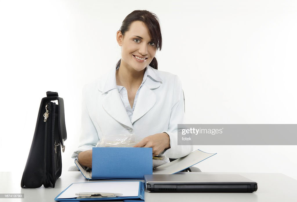 Happy office worker : Stockfoto