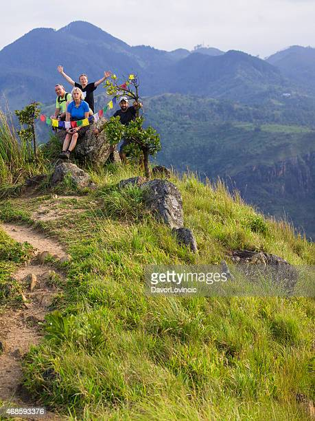 Happy on the top  of  Little Adam's Peak in Ella