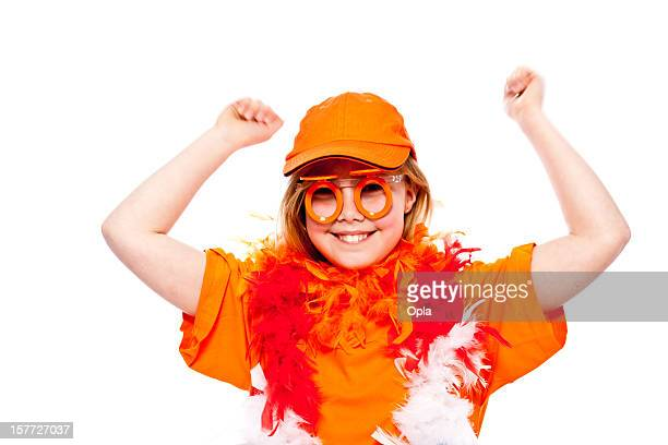 Happy orange fan
