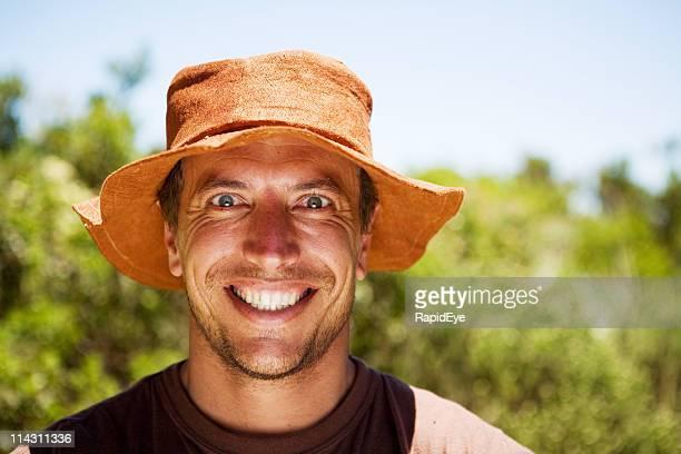 Happy outdoorsman
