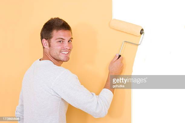happy painter - gchutka stock pictures, royalty-free photos & images