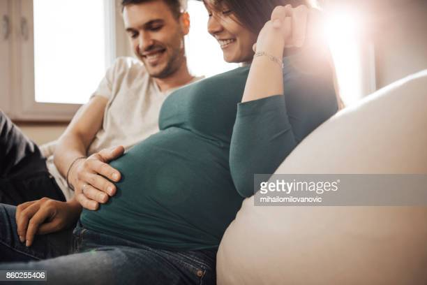 happy parents to be - pregnant stock pictures, royalty-free photos & images