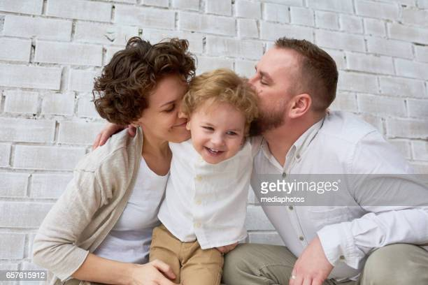 Happy parents with son