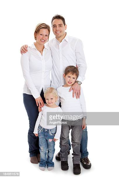 Happy parents with two children
