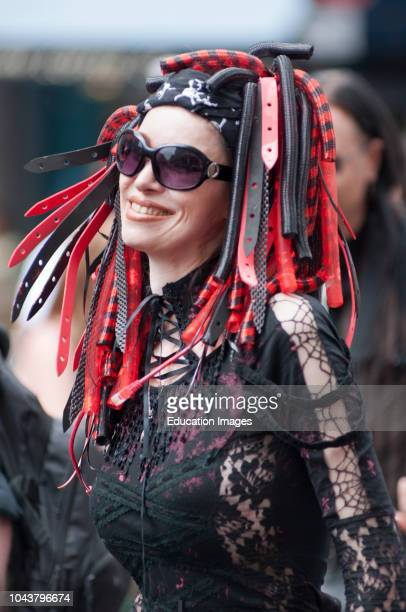 Happy participant of the Gay Pride parade London England