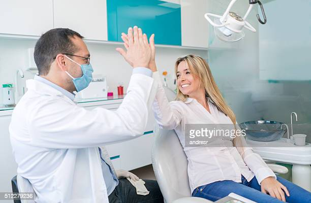 Happy patient at the dentist