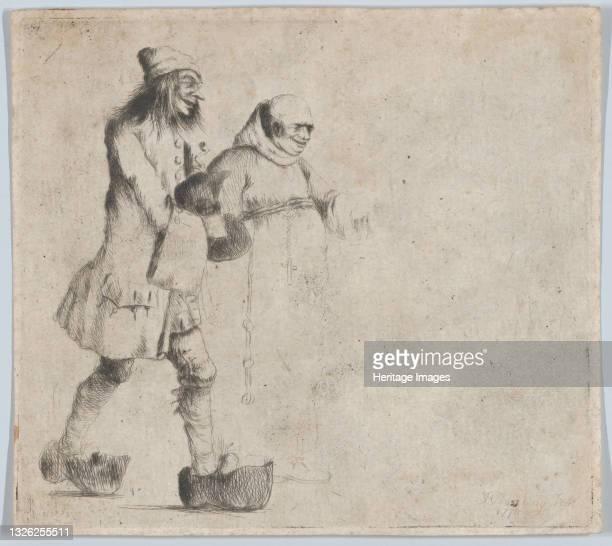 Happy Peasant and Monk, 1770. Artist Henry William Bunbury.