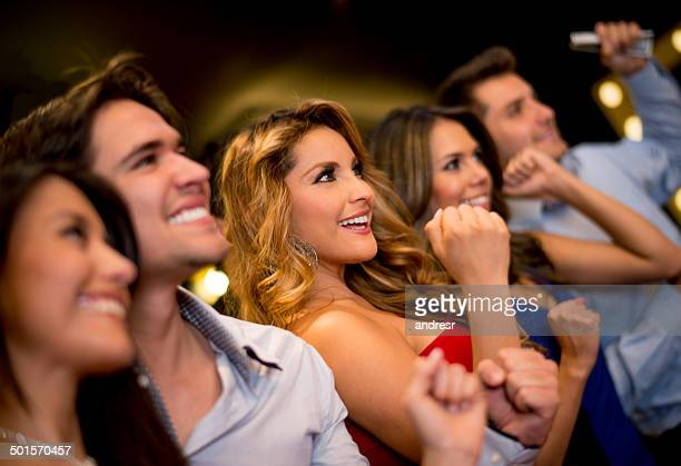 Happy people at the Casino