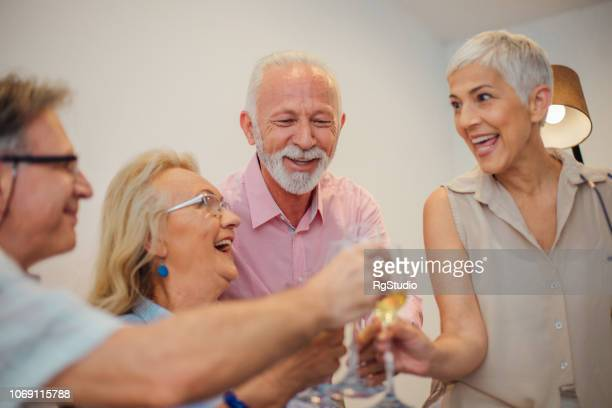 happy people having celebratory toast - drunk wife at party stock pictures, royalty-free photos & images
