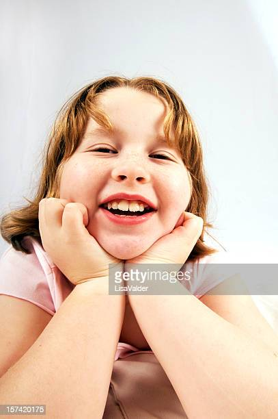 happy - fat little girls stock photos and pictures