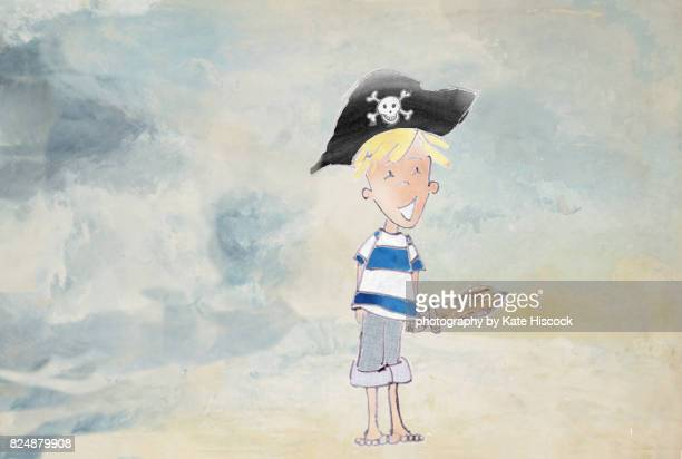 Happy Pirate Boy Watercolour