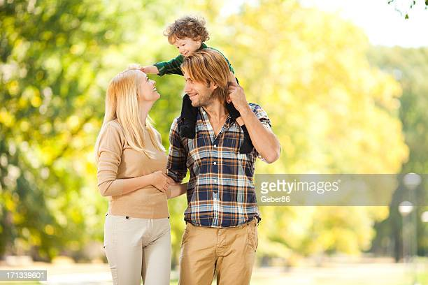 Happy playful family