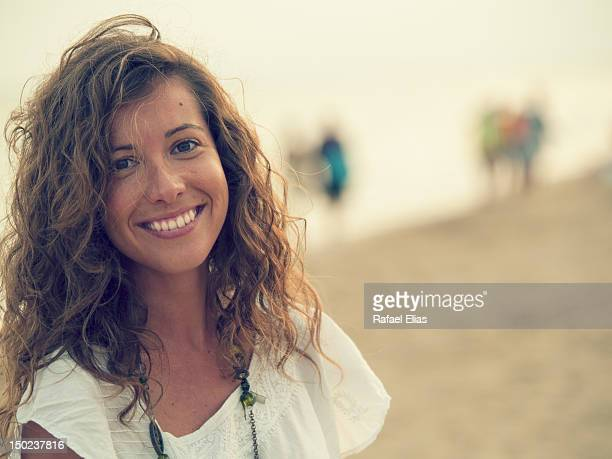 Happy portrait of beautiful girl