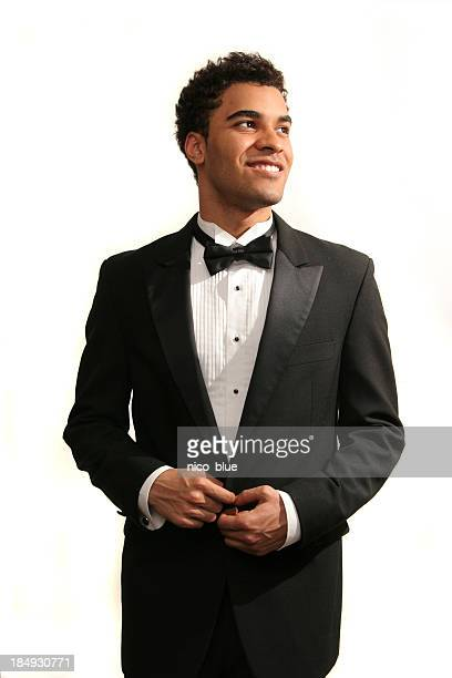 happy prom date - dinner jacket stock pictures, royalty-free photos & images