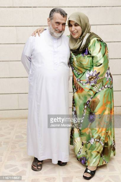 happy real muslim family portrait - jordanian workforce stock pictures, royalty-free photos & images