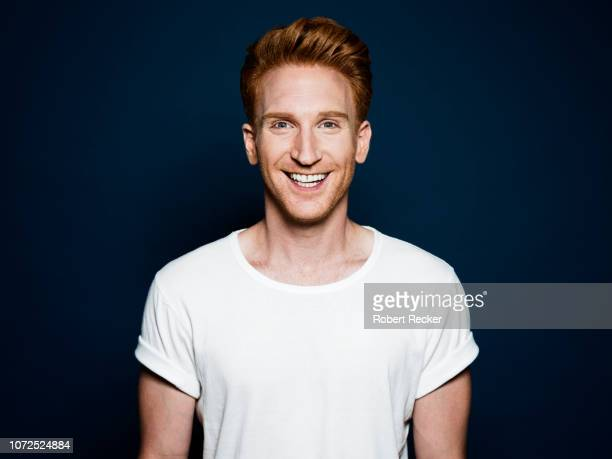 happy redhaired man - mid adult men stock pictures, royalty-free photos & images