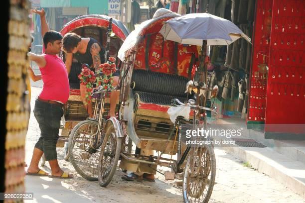 Happy Rickshaw driver