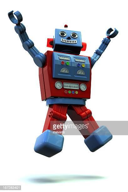 robô feliz - tridimensional - fotografias e filmes do acervo