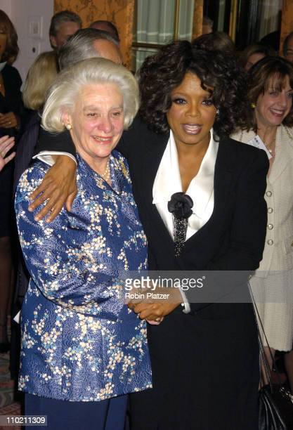 Happy Rockefeller and Oprah Winfrey during United Nations Association of USA Global Humanitarian Awards at The Waldorf Astoria in New York New York...