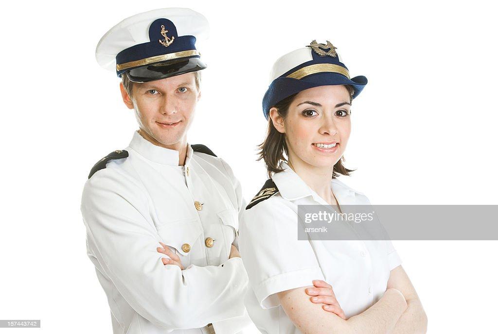 Happy sailors : Stock Photo