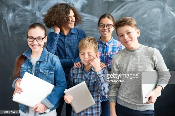 Glückliche school Kinder