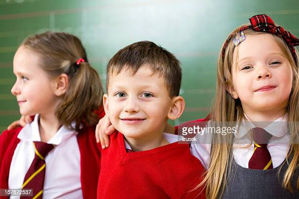 Happy School Kids Posing Together, Portrait