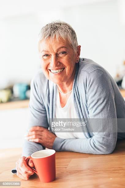 Glückliche senior Erwachsener