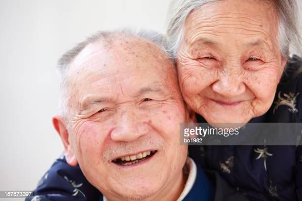 happy senior Chinese couple