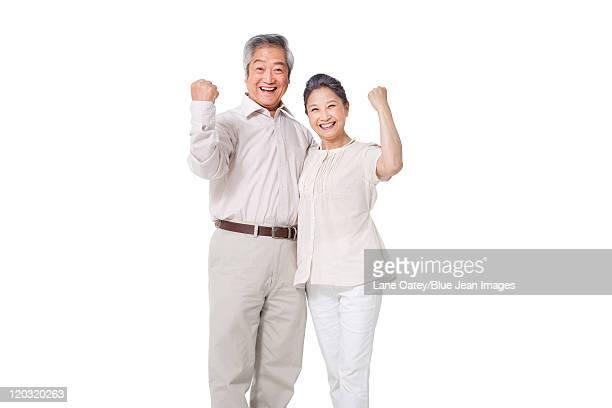 Happy Senior Couple Celebrating