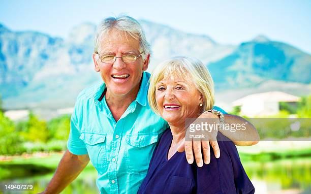 happy senior couple - izusek stock pictures, royalty-free photos & images
