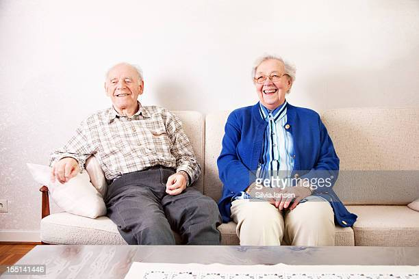 happy senior couple - skinny man fat woman stock pictures, royalty-free photos & images