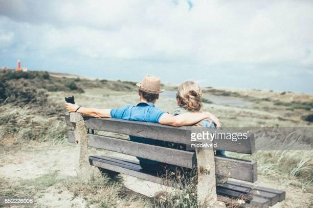 Gelukkige senior paar