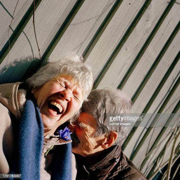 happy senior couple together - real people stock pictures, royalty-free photos & images