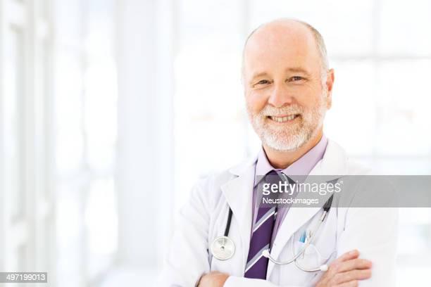 Happy Senior Male Doctor