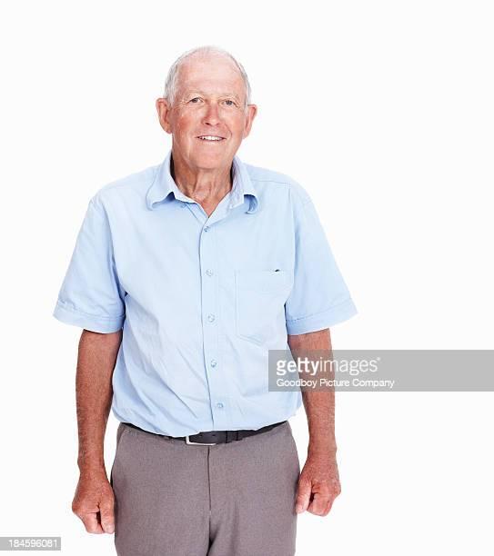 Happy senior man smiling